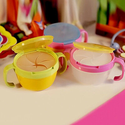 Baby Toddler Feeding Bowl Snack Food Keeper Pod Container Traveling Cup Drink