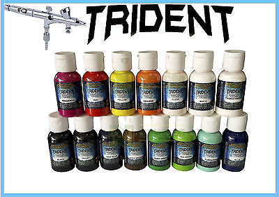 Dna Trident Airbrush Paint All Colours Spray Gun Water Based 50Ml Art Diy Brush