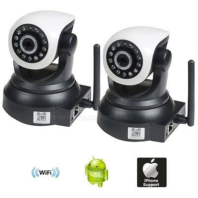 2x Baby Monitor Wireless Wifi IP Network Smartphone IR Night Security Camera bkx