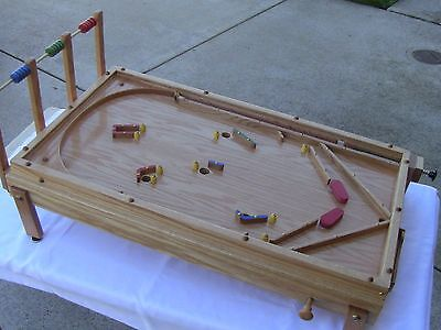 Mechanical Pinball Machine (Handmade) - Wood, Oak - Built on Youtube