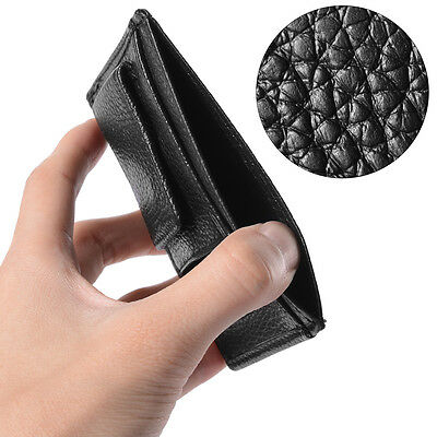 Men's Deluxe Money Clip Leather Magnetic  Wallet Credit Card Slim ID Holder Gift
