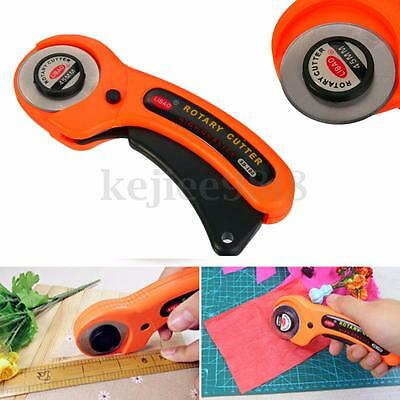 45mm Rotary Cutter Fabric Hand Cutting Sewing Quilting Quilters Paper Craft Tool