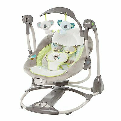 Ingenuity ConvertMe Swing-2-Seat Vibrating Baby Swing Bouncer Chair - Brighton