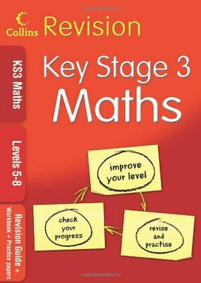 KS3 Maths L5-8: Revision Guide + Workbook + Practice Papers (Collin... Paperback