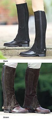 Shires  Adults Suede Half Chaps Brown X Large