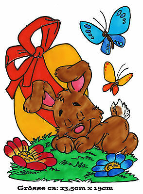 292 Window Color Bild Fensterbild Sticker Osterhase Handarbeit