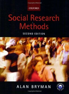 Social Research Methods by Bryman, Alan Paperback Book The Cheap Fast Free Post