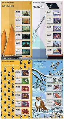 2015 Year Set of Post and Go Stamps in Presentation Packs (4 Packs)