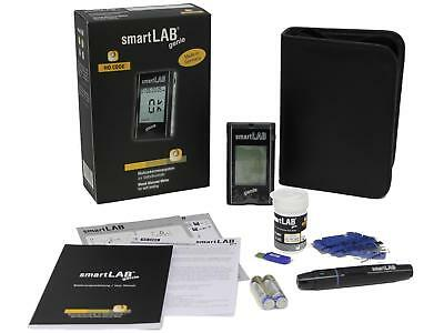 Blood Glucose Monitoring System smartLAB genie Black Starter Set w. large Displa