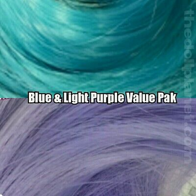 Lavender & Blue XL 4oz 2 Color Value Pack Nylon Doll Hair to Reroot Barbie MLP
