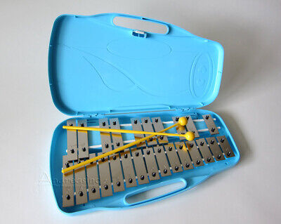 NEW PORTABLE 25 NOTE GLOCKENSPIEL XYLOPHONE BELLS CHIMES SET in CASE