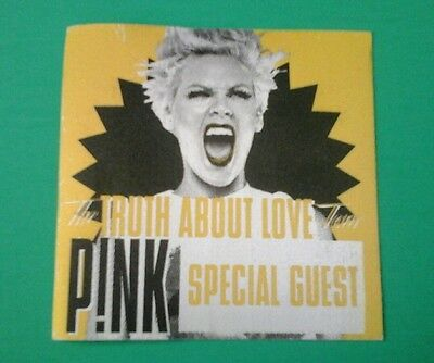 P!NK CLOTH backstage pass special guest Truth About Love New