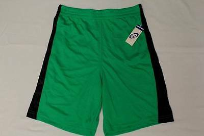 Boys Athletic Shorts XS 4-5 Basketball Workout Gym Running Pockets Green Mesh