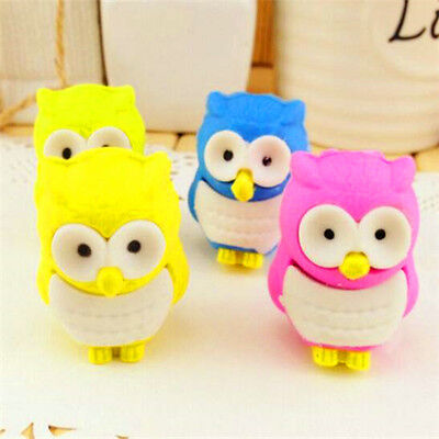FD3706 Creative Owl Eraser Rubber Pencil Stationery Cute Stationery Gift 1pc