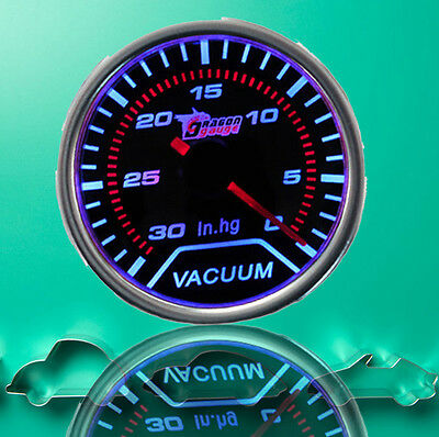 "2"" 52mm Smoke Len LED Indicator Pointer Car Vehicle Vacuum Gauge AU Warehouse"