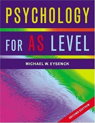 Eysenck: Psychology for AS Level by Flanagan, Cara Paperback Book The Cheap Fast