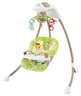 Fisher-Price Cradle 'N Swing Baby Swing In Rainforest Friends Design *BRAND NEW*