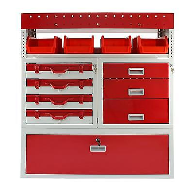 Van Racking Metal Shelving System Steel Rack Tool Storage Drawers Lockable Unit