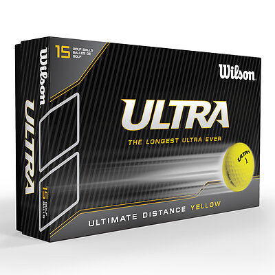Wilson Staff 2015 Ultra LUE Ultimate Distance Golf Balls Yellow 15 Pack Multi