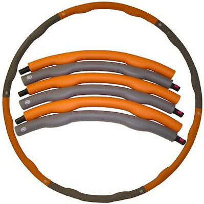 Hula Hoop Weighted 1.5KG Wave Inner, Core Excercise 1m Across Orange Grey RP£30