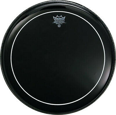 "Remo 14"" Pinstripe Ebony Tom Or Snare Drum Head Skin ES-0614-PS"