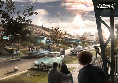 Fallout 4 Poster Print Many Sizes Glossy Borderless Stunning Vibrant A2 A3 A4