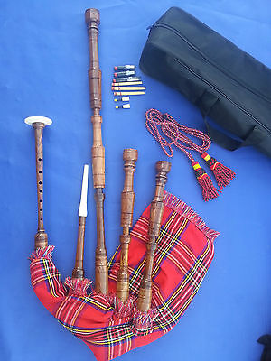 Great Highland Bagpipe Rosewood Natural Color Free Accessories/Gaita