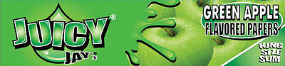 Juicy Jay's Green Apple King Size Slim Flavoured Rolling Paper 32 Leaves / Pack