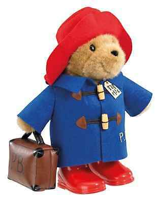 LARGE 36cm PADDINGTON BEAR WITH RED HAT AND BLUE COAT AND SUITCASE SOFT TOY