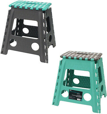 Extra Tall Large Folding Step Stool Blueberry/Strong Home Kitchen Easy Carry
