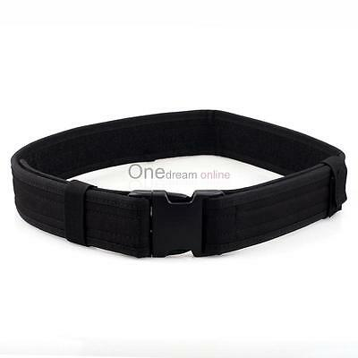 """2.3"""" Police Security 34""""to42"""" Tactical Combat Gear Utility Nylon Duty Belt Black"""