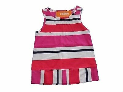 NWT Girl/'s Gymboree Ciao Puppy pink blue ivory striped dress ~ 6 FREE SHIPPING