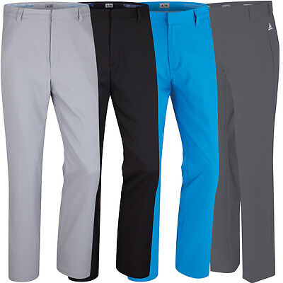 Adidas Golf Mens Puremotion Stretch 3 Stripes Pant Flat Front Trousers