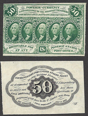 50 Cent FRACTIONAL=1st ISSUE=Fr. 1312=POSTAGE CURRENCY=STAMP=Vy Ch New