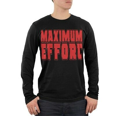 Maximum Effort Black Adult Soft Long Sleeve T-Shirt