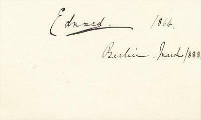 Prince Albert Victor, Duke of Clarence & Avondale- Rare Signature from 1888
