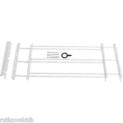 2-Pack 3-Bar White Adjustable Child Safety Window Security Guards Bars