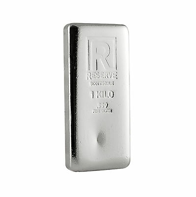 1 Kilo Silver Bar - RESERVE by Scottsdale Mint .999 Silver #A213