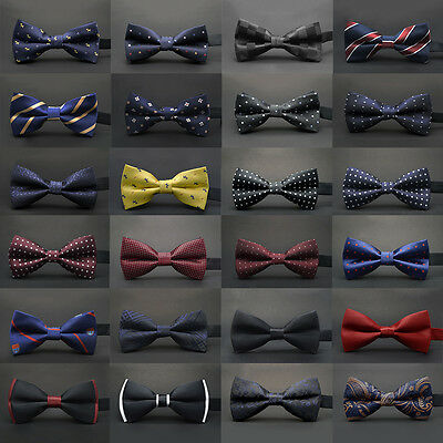 23 Classic Fashion Novelty Mens Adjustable Tuxedo Bowtie Wedding Bow Tie Necktie