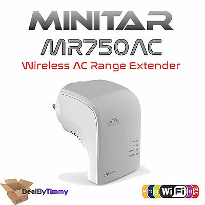 Minitar AC750 Dual Band Wireless AC WiFi Repeater Range Extender Signal Booster