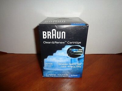 3 Count Genuine Braun Clean Renew Cartridge Refills Series 3 5 7 Shaver Cleaner
