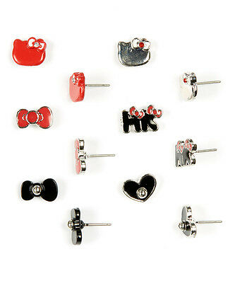 Loungefly Hello Kitty Bow Stud Earring 6pairs Set