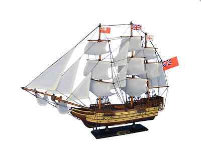 """HMS Victory Wooden Tall Flagship Model Boat 24"""" Built Replica Nautical Warship"""