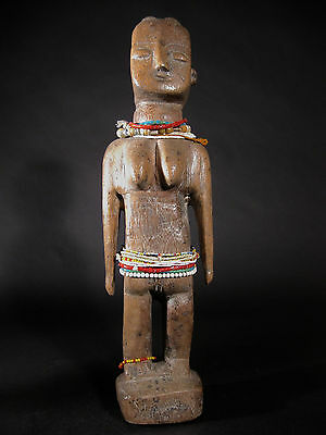 Exceptional Rare Tall Ewe Evhe Krepi Fertility Doll Tribal Togo Or Ghana