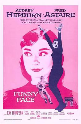 Reproduction Movie Poster - Funny Face starring Audrey Hepburn
