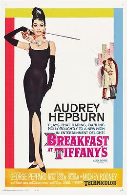Reproduction Movie Poster on Canvas - Breakfast At Tiffany's