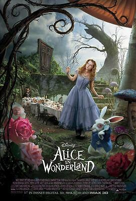 Reproduction Movie Poster on Canvas - Alice In Wonderland (2010)
