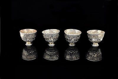 Antique Original Perfect Silver Ottoman Amazing Small Cup Set
