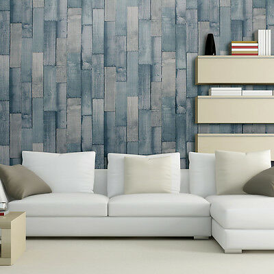 Exclusive Arthouse Driftwood Panel Pattern Wood Faux Effect Wallpaper Roll Teal