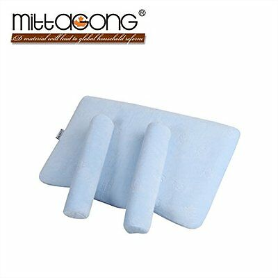 MITTAGONG Infant Anti Roll Head Positioner Support Memory Foam Baby Pillow,Blue